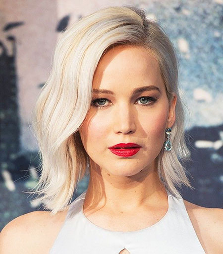 Jennifer, Blonde Bob Hairstyles, Long, Jennifer Lawrence