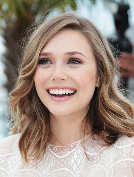 Olsen, Medium, Length, Trendy, Shoulder, Shades, Platinum, Locks