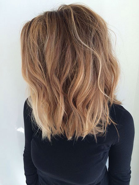 Brown, Balayage, Medium, Blonde, Ash, Summer, Ombre, Length