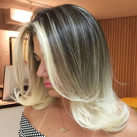 Blonde, Highlights, Thin, Shoulder, Ombre, Model, Medium