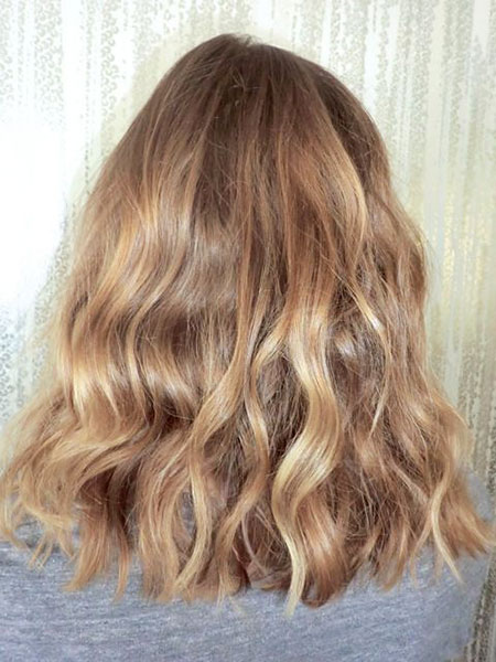 Blonde, Ombre, Highlights, Dark, Waves, Wave, Texture, Shoulder, Natural