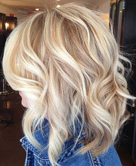 Blonde, Highlights, Balayage, Women, Warm, Shoulder