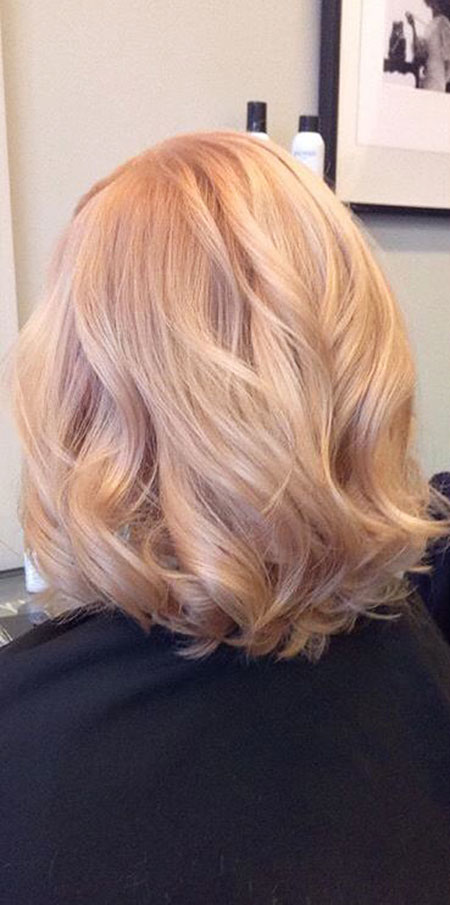 Blonde, Strawberry, Highlights, Rose, Ombre, Medium, Light
