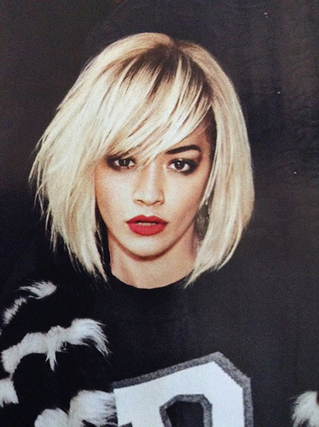 Short Hairstyles, Bangs, Blonde Hairstyles, Blonde Bob Hairstyles