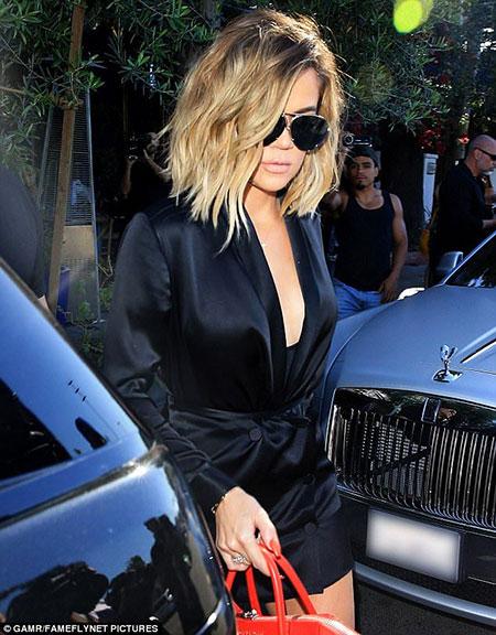 Khloe, Kardashian, Cara, Year, Undercut, Short Hairstyles, Ombre