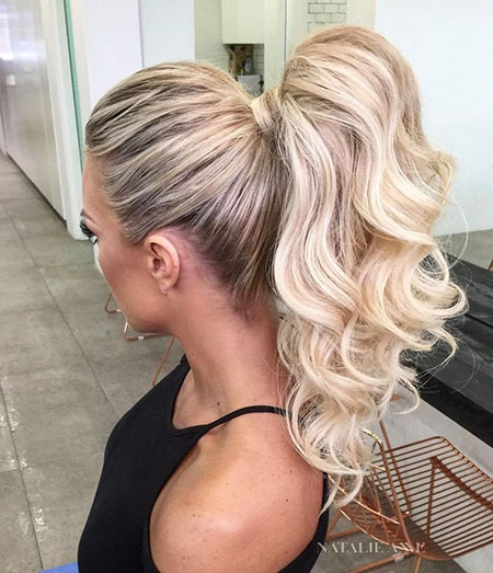Wedding Ponytail Sexy Lengths Face Curly Blonde