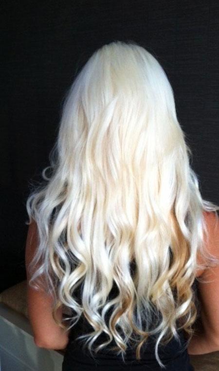 Blonde White Rapunzel Platinum Ebony Bleached Balayage
