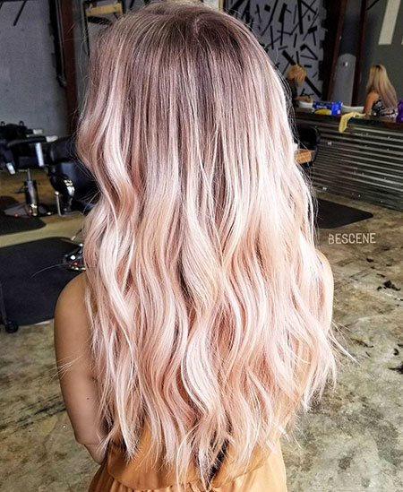 Blonde, Balayage, Rose, Gold, Blush