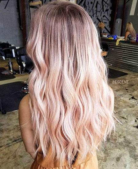 Blonde, Balayage, Rose, Gold, Blush