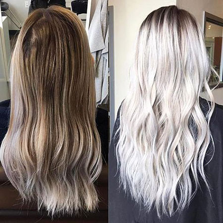 Blonde, Modern, Balayage, Platinum, Correction, Colours