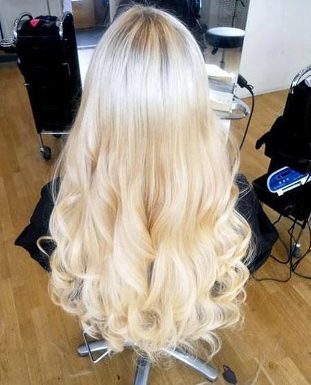 Blonde Ombre Pretty Platinum Colors Balayage