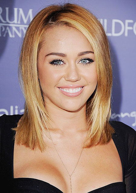 Miley, Cyrus, Bob, Blonde, Smooth, Sleek, Quick, Medium, Long