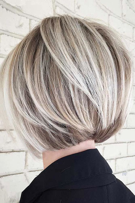 Blonde Bob Hairstyles, Short Hairstyles, Round, Layered