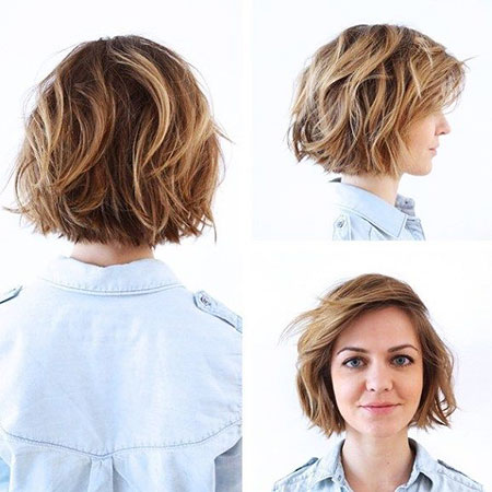 Short Hairstyles, Blonde Bob Hairstyles, Wavy, Summer