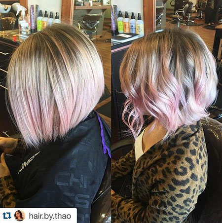 Short Hairstyles, Blonde Bob Hairstyles, Ombre, Female, Dark, Curly