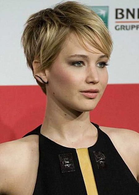 Short Hairstyles, Pixie Cut, Jennifer, Slightly, Paint, Over