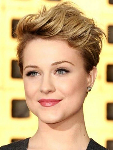 Short Hairstyles, Pixie Cut, Faces, Round, Rachel, Wood