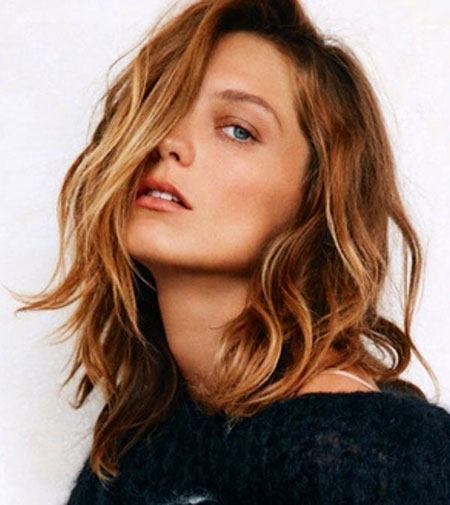 Golden, Brown, Blonde Hairstyles, Shoulder, Length