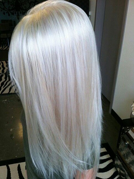 Blonde, Platinum, White, Silver, Long, Haare, Graue, Bobs