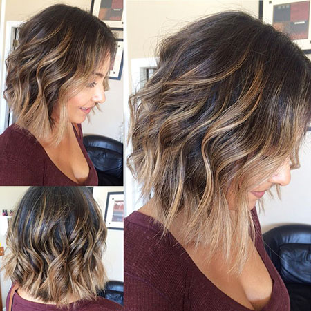 Balayage, Length, Short, Medium, Highlights, Curly, Bob