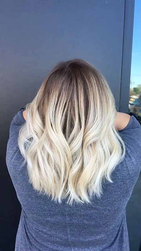 Blonde, Balayage, Medium, Ombre, Length, Dark, Waves