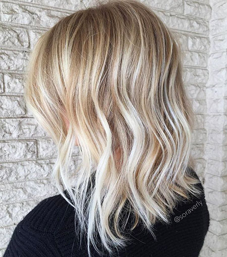 Blonde, Thin, Length, Textured, Mid, Ends, Balayage, White