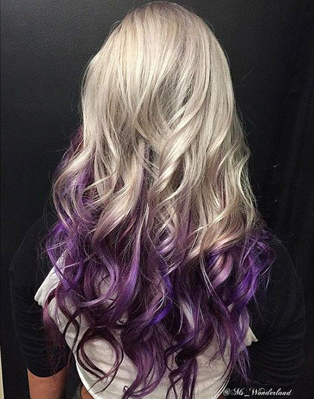 Blonde and Purple Hairtyle, Hair Purple Ombre Blonde