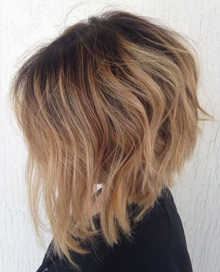 Honey Blonde Short Hairtyle, Balayage Blonde Honey Hairtyles