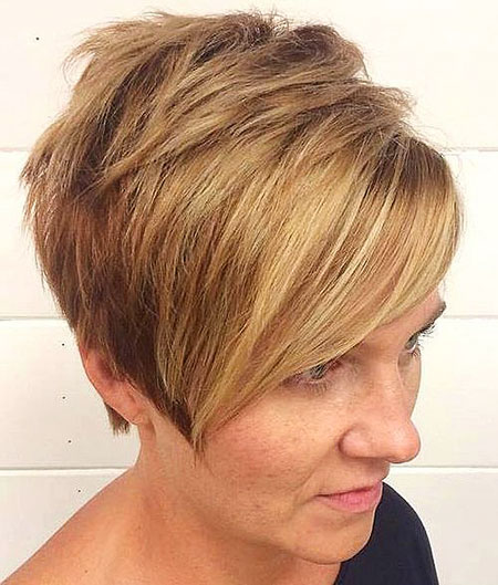 Short Blonde Hairtyle for 2018, Blonde Hair Short Pixie