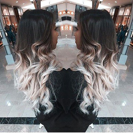 Hair Ombre Blonde Ash