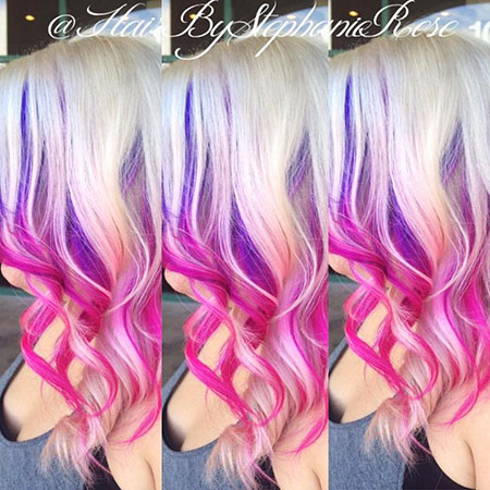 Hair Purple Pink Blonde