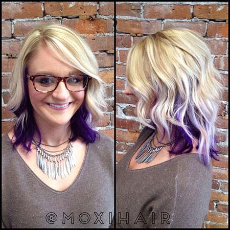 Hair Blonde Purple Color