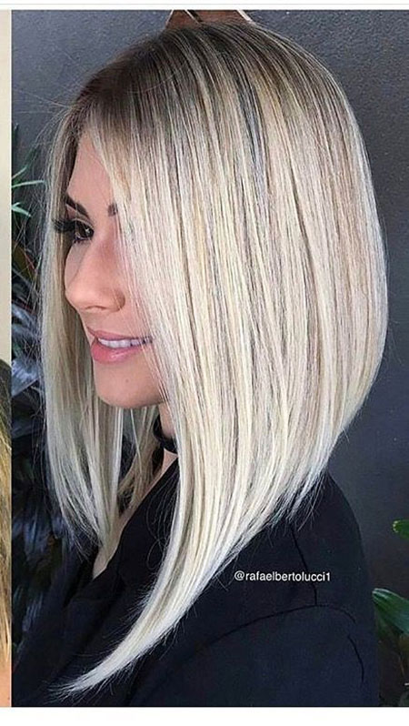 Blonde Hair Long Angled