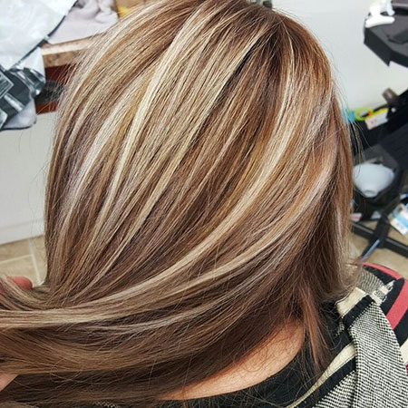 Blonde Highlights Hair Brown
