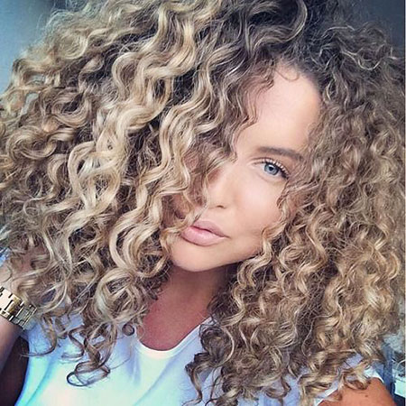 Curly Hair Curls Blonde