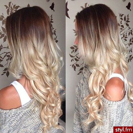 Blonde Hair Ombre Long