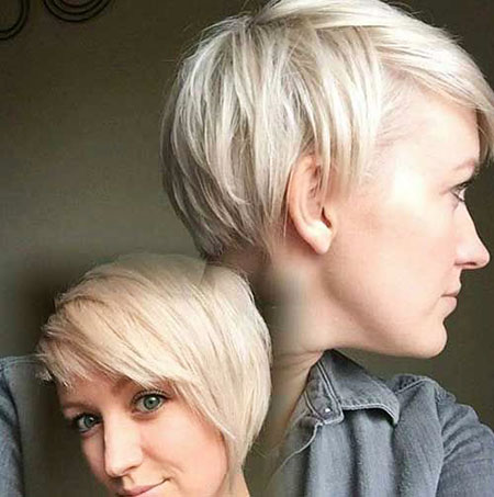 Blonde Pixie Ash Cut