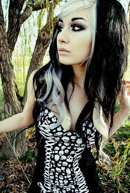 Gothic Black White Girls