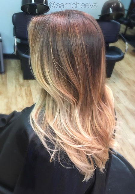 Blonde Balayage Hair Warm