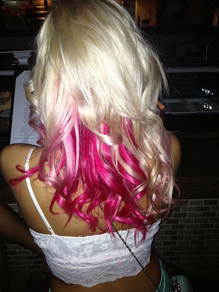 Hair Blonde Pink Ombre