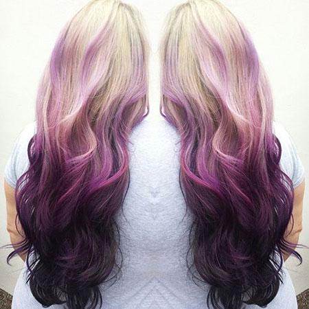 Hair Ombre Purple Reverse