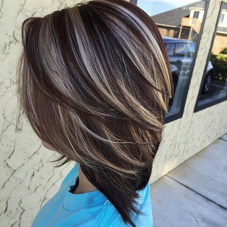 Hair Highlights Dark Brown