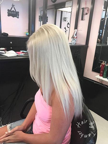 Hair Blonde Color Platinum