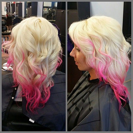 Hair Pink Blonde Ombre