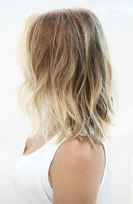 Bob Ombre Blonde Choppy