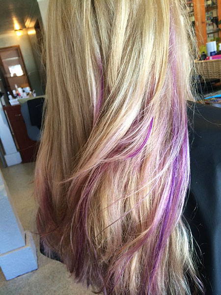 Purple Highlights Hair Color