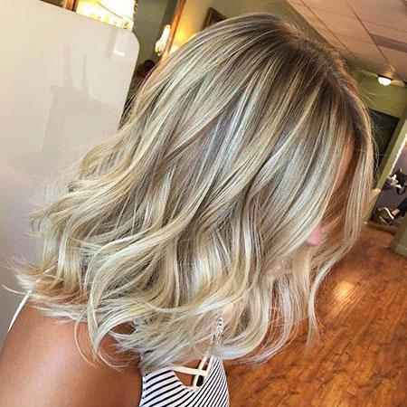 Blonde Hair Medium Length