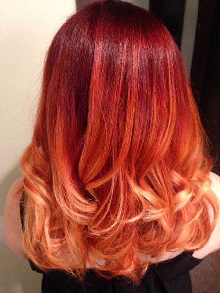 Hair Color Red Ombre