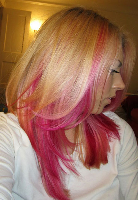 Hair Pink Blonde Color