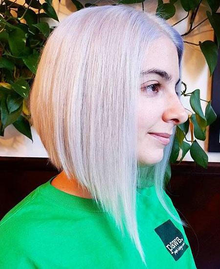 Bob Blonde Silver Hair